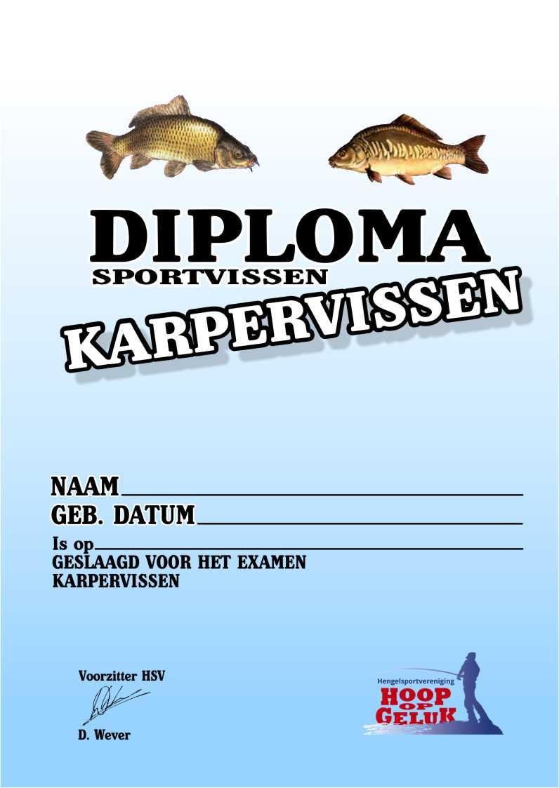 diploma karpervissen